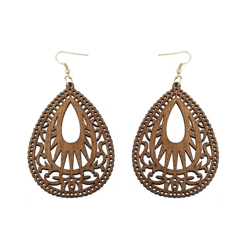 Wood Filigree Earrings (6 styles)
