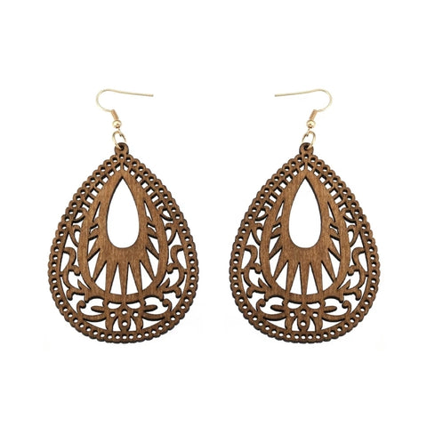 Wood Filigree Earrings (4 styles)