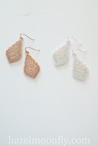 Ellianna Filigree Metal Earrings
