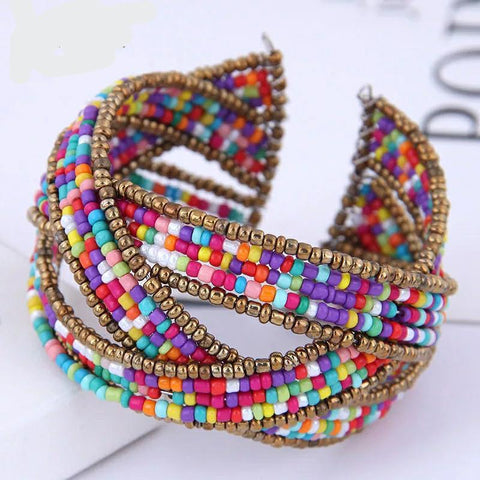 Karlisle Hand-Beaded Flexible Bracelet