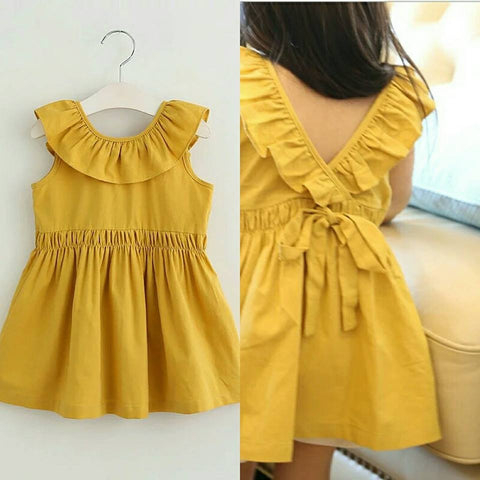 Milly Mustard Cotton Ruffle Tunic *Sizes 3T and 4T left*