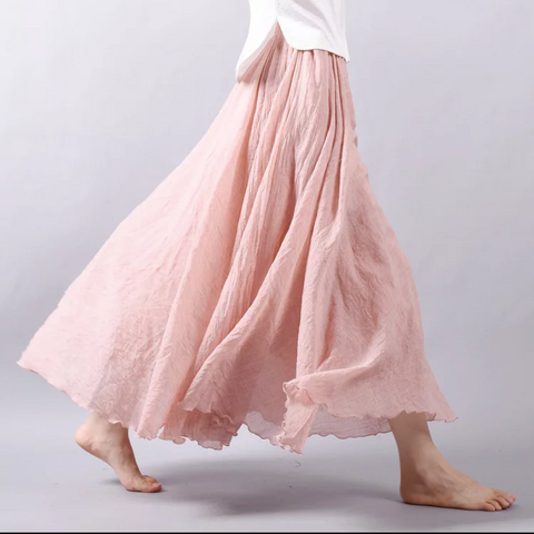 Meredith Women's Full Skirt *SALMON*