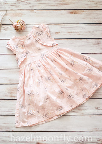 Zoe Blush Pink and Grey Dress (sizes 3-7/8)