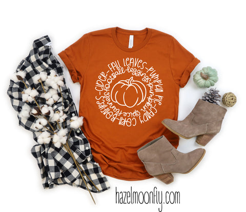 Fall Love Circle T-Shirt (4 Colors available)