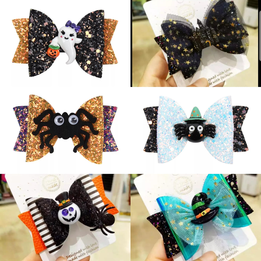 Layered Halloween Bows