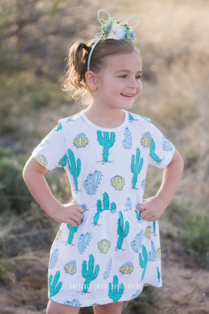 Cactus Knit Dress (Sizes 24 mos-6/7))