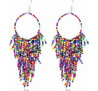 Kenadie Hand-Beaded Earrings