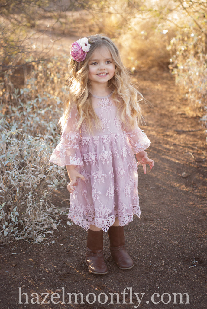 Effie Mauve Dress *Size 2-7/8*