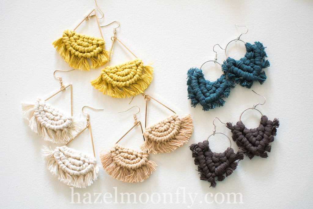 Macrame Boho Earrings