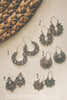 Antiqued Silver Boho Earrings