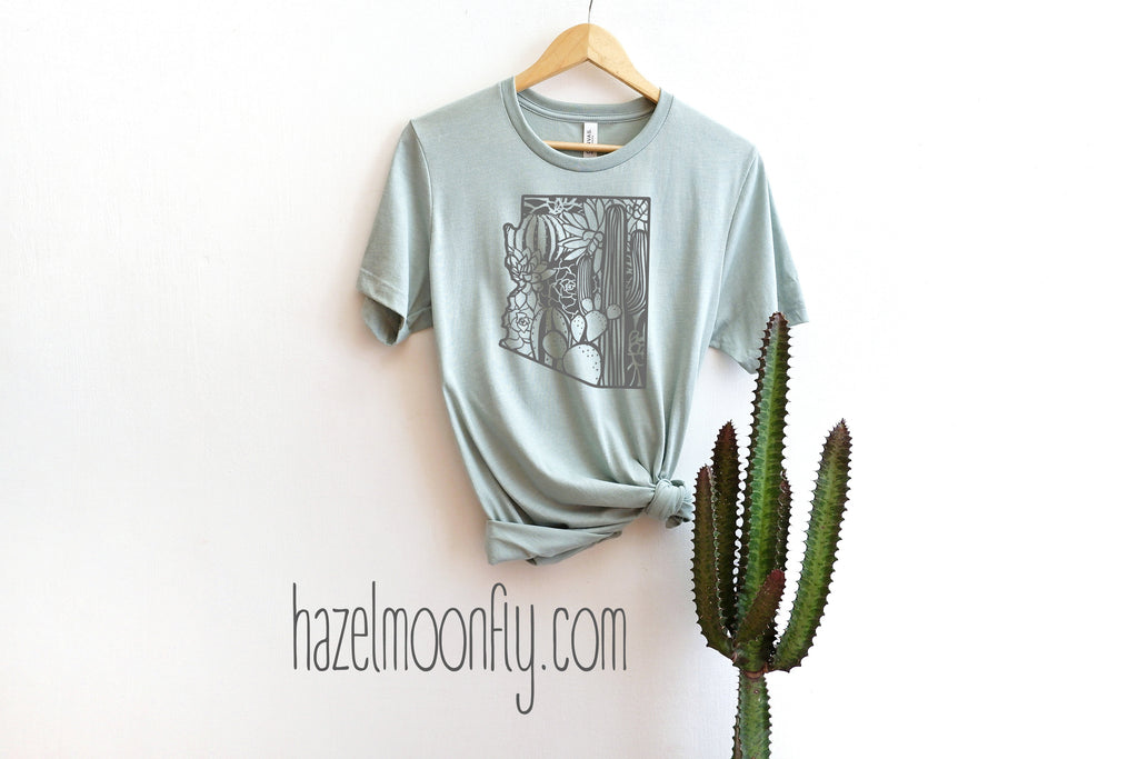 Floral Arizona T GREY PRINT Available in 11 Colors