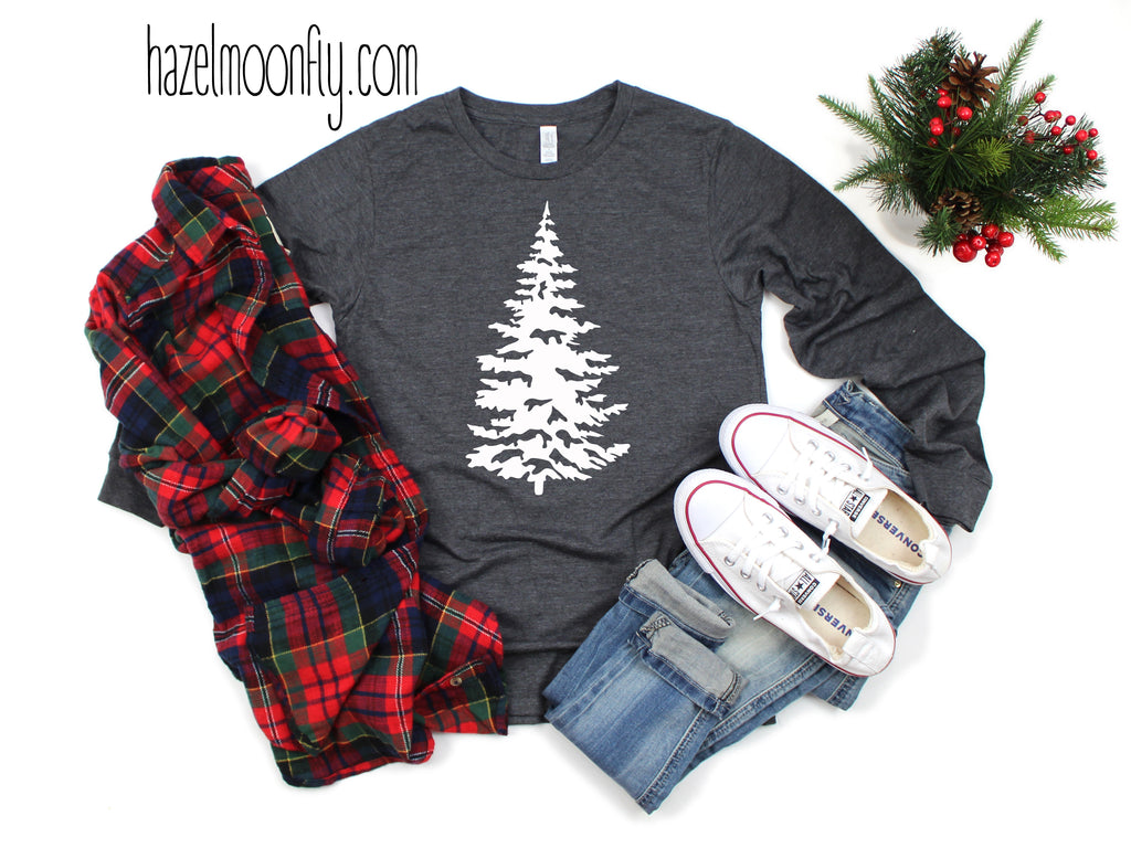 Winter Tree Unisex Long Sleeve Tee (3 Colors Available)