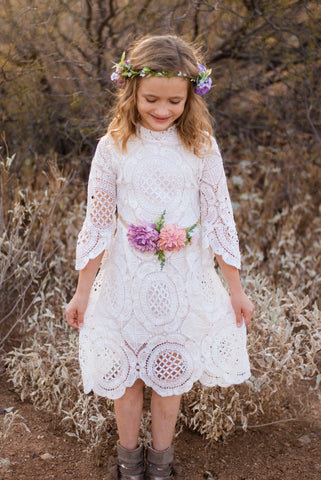 Hattie Ivory Lace Dress *Size 2/3 -6/7*