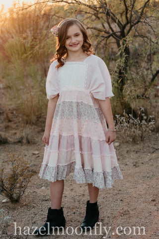Blush Rental Dress Fits Children Size 6-9/10