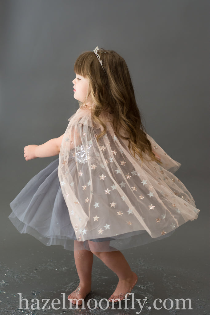 Eve Blush Silver and Gold Stardust Cape