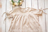 Lillith Tan and Cream Gingham Tunic *Sizes 2t-10*