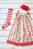 Handmade Christmas Candy Pillow Case Dress