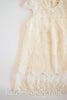 Nina Beige Lace and Tulle Rustic Shift Dress - Hazelmoonfly - 4