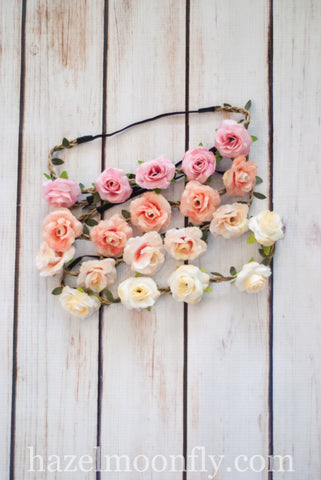 Logan Floral Boho Crown