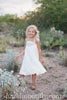 Hazel White Lace and Grey Halter Dress *Size 3/4-5/6*