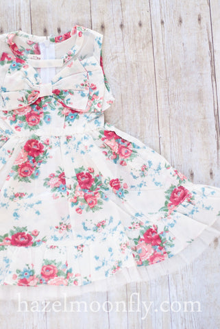 Jillian Vintage Floral Dress