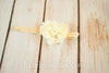Willa Deluxe Chiffon Flower Headband with Rhinestones and Pearls - Hazelmoonfly - 5