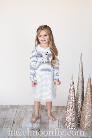 Oh Deer! Reindeer Knit Tutu Dress (sizes 2-6/7)