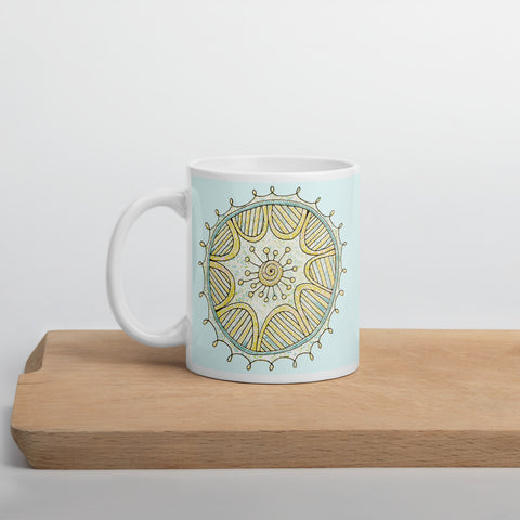Mandala Mug of Tranquility (Aqua) 11oz or 15oz