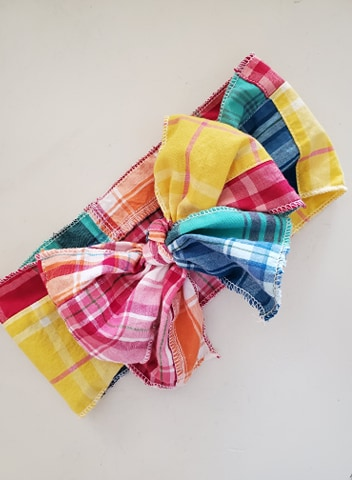 Rainbow Patchwork Boho Headwrap