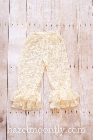 Dandy Lace Ruffle Capri Leggings