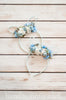 Pastel Floral Bunny Ears (Duck Egg Blue)