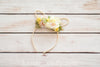Pastel Floral Bunny Ears (Soft Yellow)