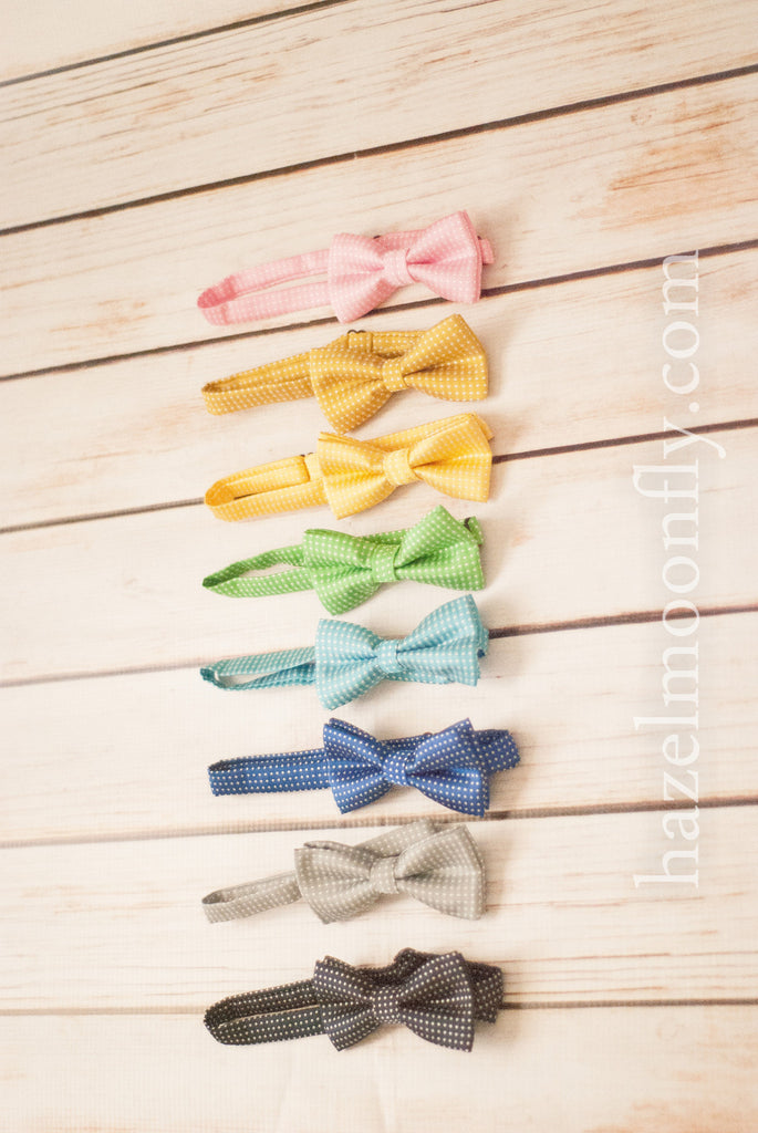 Dapper Dan (8 Colors Available!) Children's Adjustable Polka Dot Bow Tie - Hazelmoonfly - 7