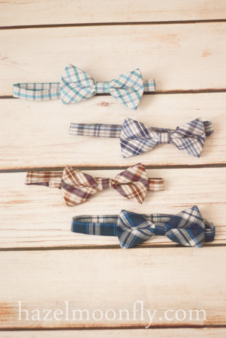 Sharp Fella Plaid Bow Ties (Adjustable)