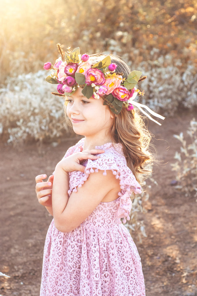 Sunset Floral Crown