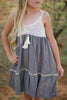 Grier Grey and Crochet Dress (Sizes 4-14)