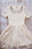 Ashleigh Ivory Lace Dress With Hand-Beaded Peter Pan Collar - Hazelmoonfly - 1