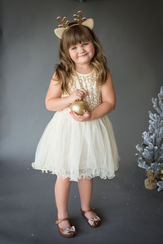 Gilded Golden Sequin Tutu Dress