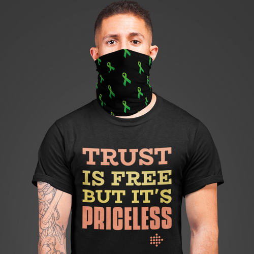 Neck Gaiter Green Ribbon
