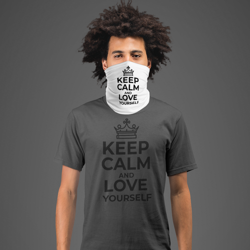 Neck gaiter Keep calm and love yourself