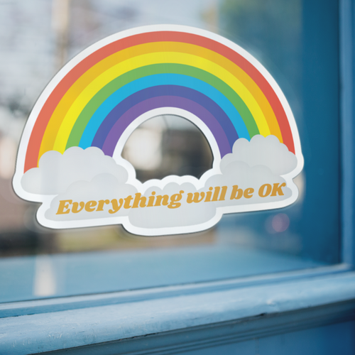 Window decal Everything will be OK