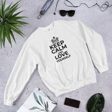 Load image into Gallery viewer, Unisex Sweatshirt Keep Calm and Love Yourself