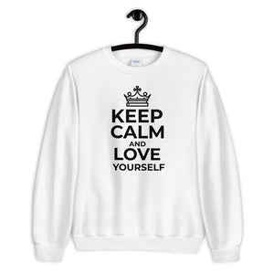 Unisex Sweatshirt Keep Calm and Love Yourself
