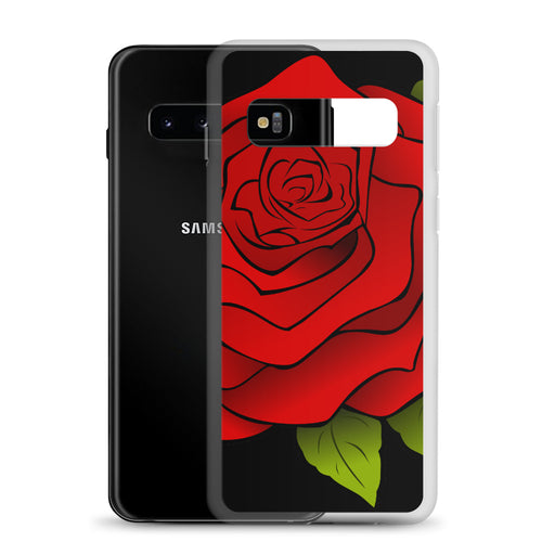 Samsung Phone Case Beautiful - Red Rose