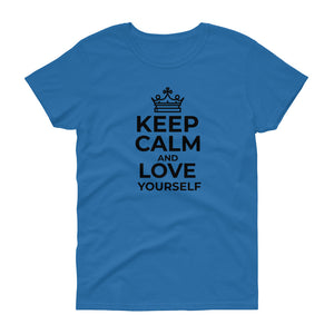 Women's t-shirt Keep Calm and Love Yourself