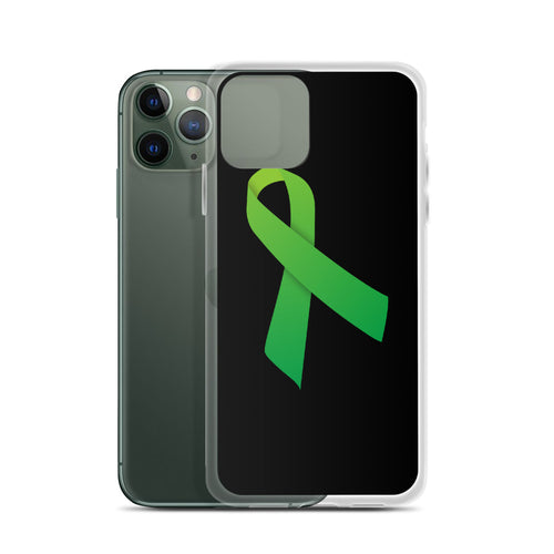 iPhone Case Green Ribbon for Mental Health Awareness