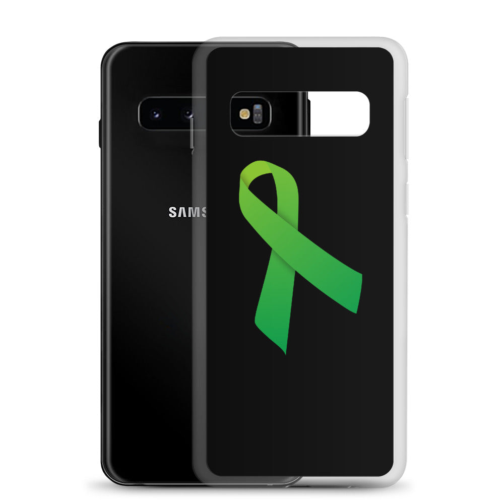 Samsung Phone Case Green Ribbon for Mental Health Awareness
