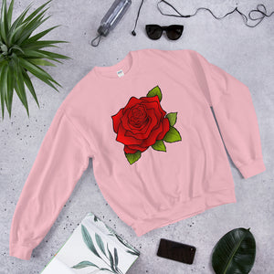 Unisex Sweatshirt Beautiful - Red Rose