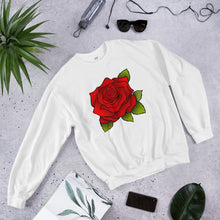 Load image into Gallery viewer, Unisex Sweatshirt Beautiful - Red Rose