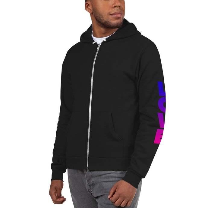 Self Love Sleeves Zip Up Hoodie